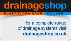 DRAINAGE SHOP - PLASTIC DRAINAGE ONLINE - for a complete range of drainage systems visit drainageshop.co.uk