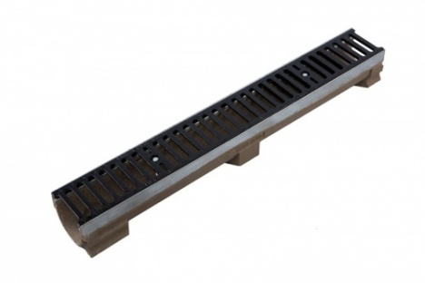 D400 Channel c/w Slotted Ductile Iron Grating 1000L x 131W x 127H
