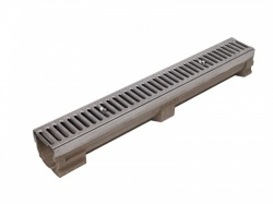 A15 Polymer Concrete Drainage Channel x 1m Stainless Steel Grating