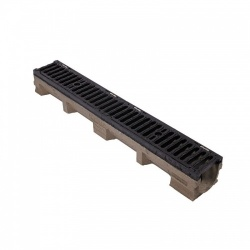 E600 Channel c/w Slotted Ductile Iron Grating 1000L x 142W x 127H