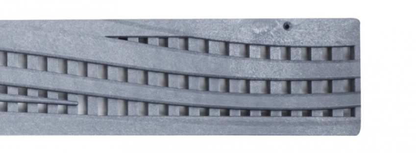 NDS Wave Decorative Channel Grate Grey x 900mm