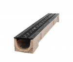 B125 Polymer Channel x 1m Cast Iron Grate