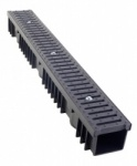 B125 Drainage Channel x 1m Cast Iron Grate