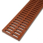 NDS Slotted Decorative Channel Grate Brick Red  x 900mm