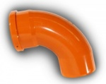 110mm 87° Single Socket Bend (Swept)
