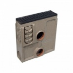 E600 Channel Silt Box c/w Heelguard Ductile Iron Slotted Grate