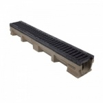F900 Channel c/w Slotted Ductile Iron Grating 1000L x 142W x 127H