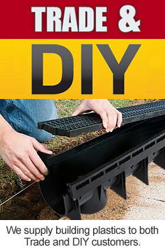 We supply plastic channel drainage to both Trade and DIY customers.