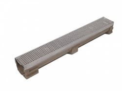 C250 Channel x 1m c/w Perforated Stainless Steel Grate