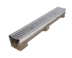 A15 Polymer Concrete Drainage Channel x 1m Galvanised Grating