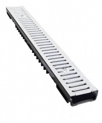 Low Profile Drainage Channel x 1m A15 Stainless Steel Grate