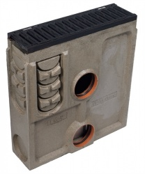F900 Channel Silt Box c/w Slotted Ductile Iron Slotted Grate