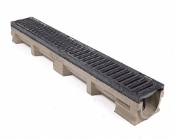 F900 Channel c/w Heelguard Ductile Iron Grating 1000L x 142W x 127H