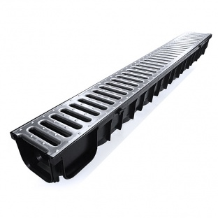 A15 Dakota Drainage Channel x 1m Galvanised Grate