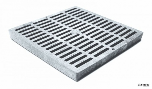 12'' Slotted Catch Basin Grate - Grey