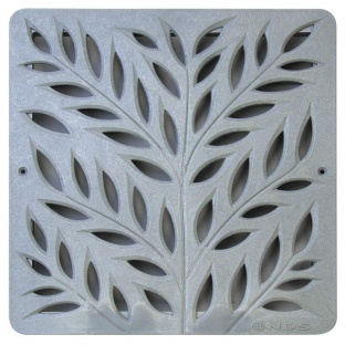 12'' Botanical Catch Basin Grate - Grey