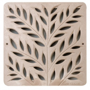 12'' Botanical Catch Basin Grate - Sand