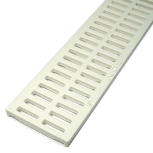 NDS Slotted Decorative Channel Grate White  x 900mm