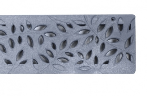 NDS Botanical Decorative Channel Grate Grey x 900mm