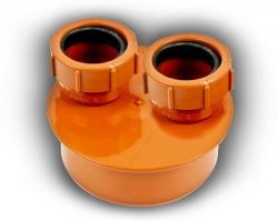110mm Double Waste Adaptor 32mm & 40mm