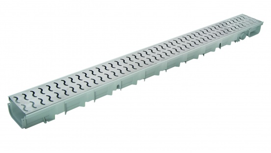 Pegasus Stainless Steel 'Waves' Drainage Channel x 1m