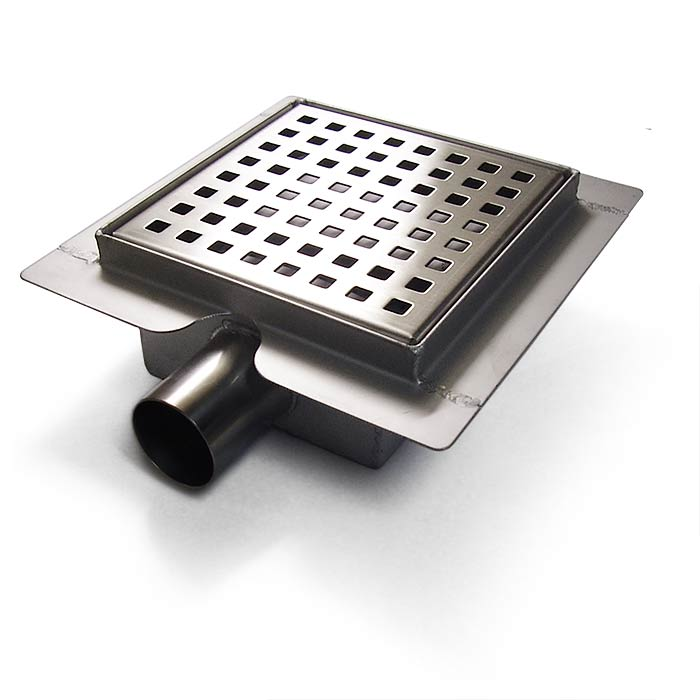 Square Stainless Steel Shower Drain Laser Cut Square Grate