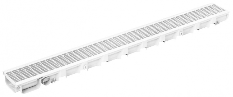 Pegasus 49mm Deep Drainage Channel White x 1m