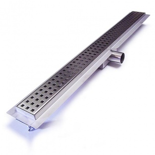 Laser Cut Square Shower Drain 800mm Long