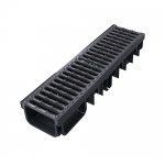 XDrain 130/80 C250 Drainage Channel x 500mm Long Cast Iron Grate