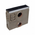 D400 Channel Silt Box c/w Ductile Iron Slotted Grate