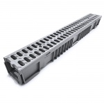 Grey A15 Drainage Channel x 1m Plastic Grate
