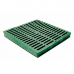 12'' Slotted Catch Basin Grate - Green