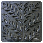 12'' Botanical Catch Basin Grate - Black