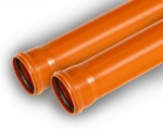 110mm 3m Single Socket Pipe
