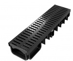 XDrain 130/80 C250 Drainage Channel x 500mm Long Polyamide Grate