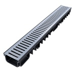XDrain 130/80 B125 Drainage Channel x 1m Galvanised Grate