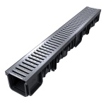 XDrain 130/120 B125 Drainage Channel x 1m Stainless Steel Grate